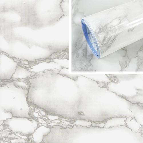 Adhésif déco marbre gris