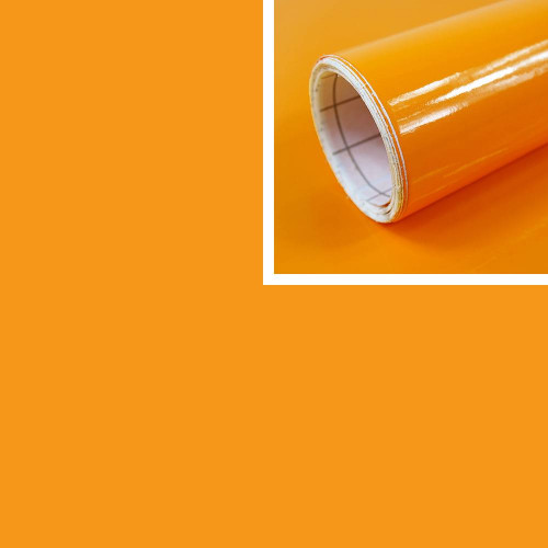 Adhésif déco orange Brillant