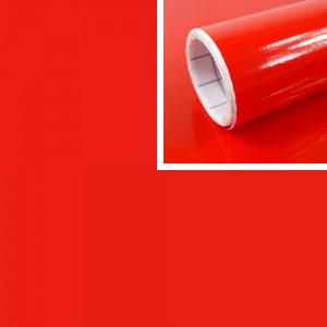 Adhésif déco rouge Brillant