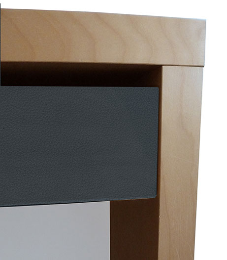 adh sif d co cuir anthracite. Black Bedroom Furniture Sets. Home Design Ideas